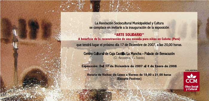 Invitación Arte Solidario