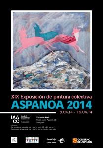 EXPOSICIÓN Y VENTA DE PINTURA Y ESCULTURA 2014 A BENEFICIO DE ASPANOA. DEL 8-04-14 AL 16-04-14