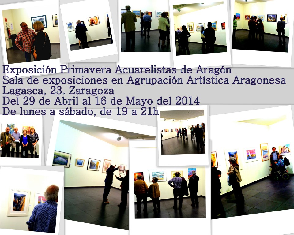 Inauguración Exposición Colectiva Acuarelistas de Aragón